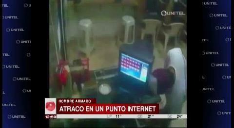 Video muestra robo en un punto internet en la zona de la Doble Vía a La Guardia