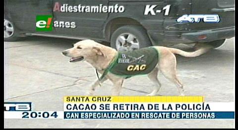 'Cacao', el can policía se retira tras ocho años de servicio