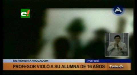 Potosí: Detienen a un profesor acusado por agresión sexual contra su alumna