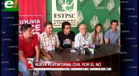 «Bolivia dice No»: Nueva plataforma civil que hará campaña por el No a la reelección de Evo