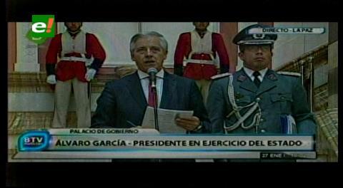 García Linera dice que límite en la transmisión de gestión restringía la comunicación con el pueblo