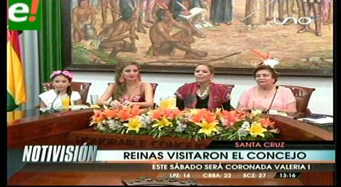 Gobierno Municipal distingue a las reinas del Carnaval cruceño