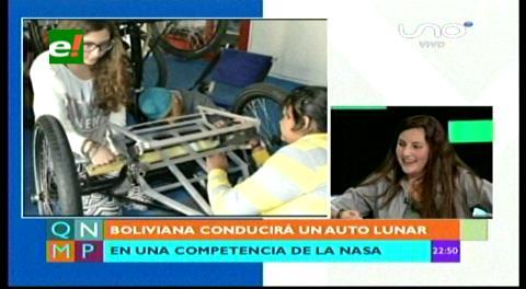 La boliviana que conducirá un auto lunar en una competencia de la NASA