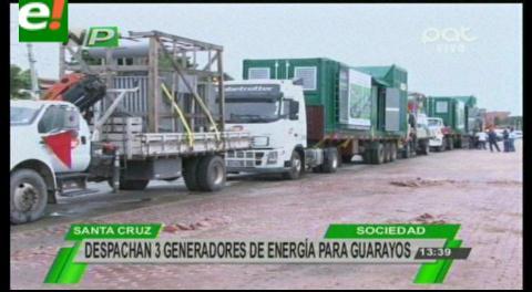 Envían generadores para la primera Planta de Energía Eléctrica en Guarayos