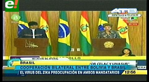 """Rousseff apoya proyectos """"Bolivia centro energético"""" y """"tren bioceánico"""""""