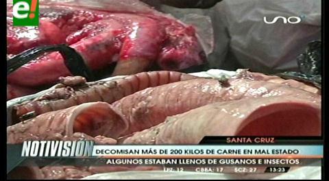 Plan Carnaval Limpio: Decomisan 295 kilos de carnes en mal estado