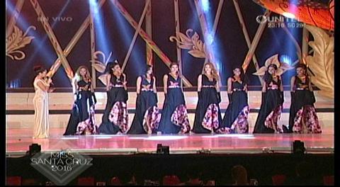 Las 8 finalistas del Miss Santa Cruz 2016