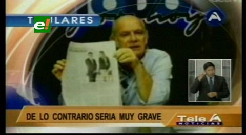 Titulares de TV: Oposición espera que denuncia contra Evo Morales por tráfico de influencias sea una equivocación