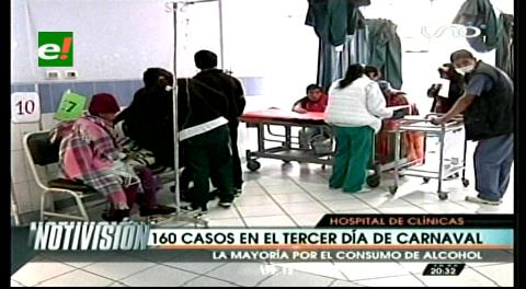 La Paz: Hospital de Clínicas colapsó luego de cuatro días de carnaval