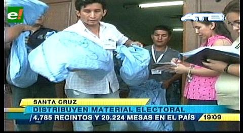 Llegó material electoral para ser distribuido