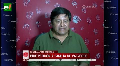 Sanjinez pide disculpas por denunciar al padre de Carlos Valverde