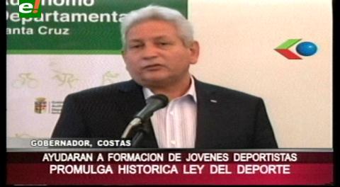 Rubén Costas promulga primera Ley del Deporte en Bolivia
