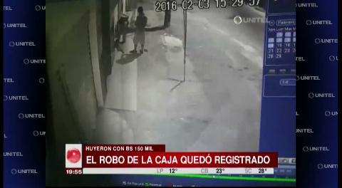 Envían a Palmasola a dos personas por el robo de una caja fuerte