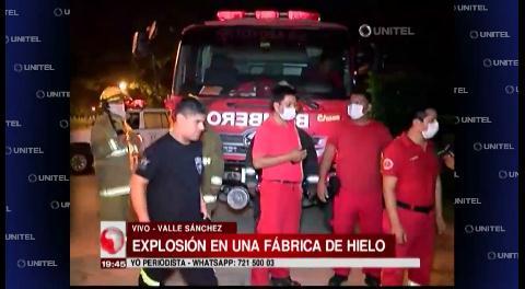 Explosión en una fábrica de hielo en la zona de Valle Sánchez