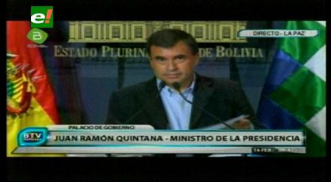 Arremetida contra periodista. Ministro Quintana: Valverde es agente encubierto de EEUU y juntos montaron el caso CAMC