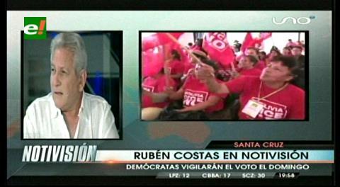 """Rubén Costas: """"Ya se vive una victoria del No en todo el país"""""""