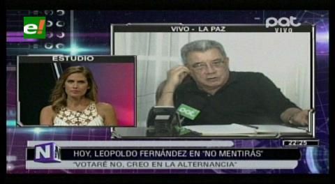 Leopoldo Fernández: Votaré No, creo en la alternancia