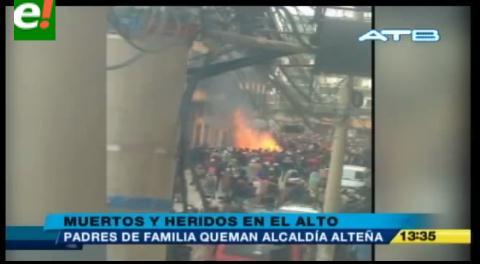 """Funcionaria de la Alcaldia de El Alto: """"La muchedumbre tenía una consigna, que renuncie la Sole"""""""