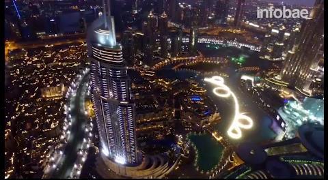 La espectacular vista de Dubai desde un drone
