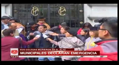 Funcionarios de La Paz se declaran en emergencia por sucesos en El Alto