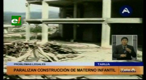 Tarija : Materno Infantil se deteriora y no hay fecha de reinicio de obras