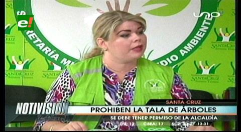 La alcaldía prohíbe la tala de árboles en predios urbanos de Santa Cruz