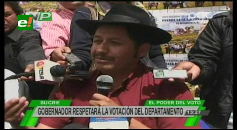 Gobernador de Chuquisaca dispuesto a someterse a un referendo revocatorio