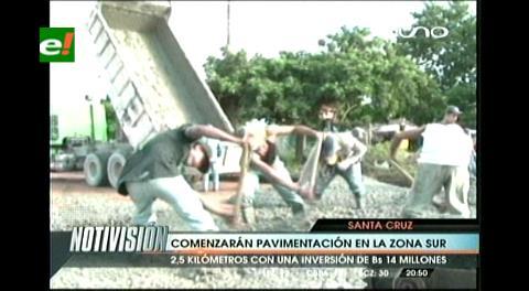 Municipio cruceño inicia la pavimentación del Sexto Anillo y medio en la zona sur
