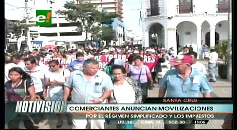 Gremialistas de Santa Cruz anuncian marchas y bloqueos desde el lunes