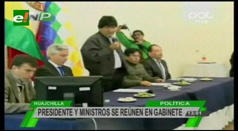 Gabinete ampliado de autoridades analizó temas económicos en La Paz