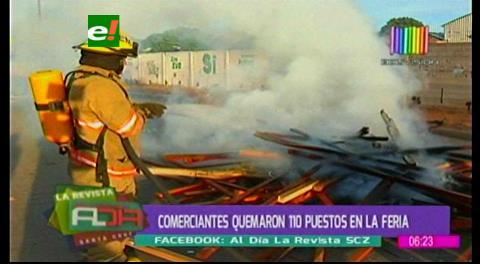 Conflicto: Gremiales de Feria Barrio Lindo queman casetas