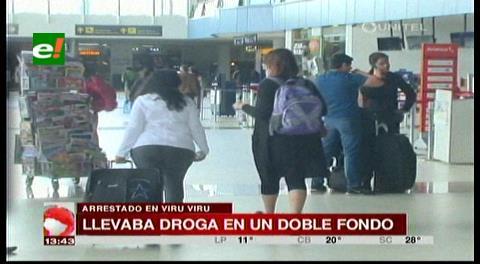 Aeropuerto Viru Viru: Detienen a un hombre que pretendía llevar droga a España