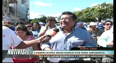 Gremiales se movilizan en Santa Cruz y piden diálogo para solucionar tema impositivo