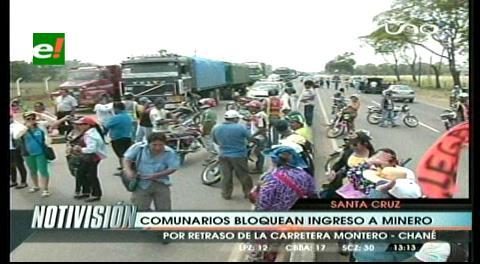 Comunarios bloquean el ingreso a Minero