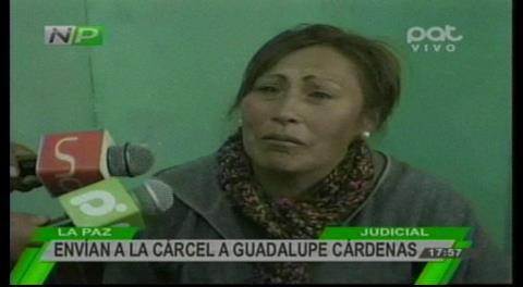 Detienen en cárcel de Obrajes a exdirigenta de policías, Guadalupe Cárdenas, por sedición