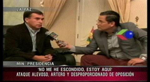 Quintana dice no conocer a Gabriela Zapata y ataca a Carlos Valverde