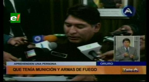 En Oruro detienen a un campesino que portaba tres rifles