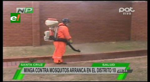 Alcaldía cruceña inicia mingas en los barrios para combatir el zika