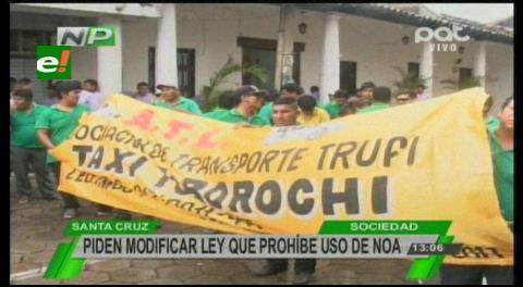 Protesta: Trufis exigen la actualización y autorización de rutas