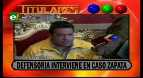 Titulares de TV: Defensoría de la Niñez de La Paz interviene en el caso Zapata