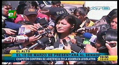 Senado fija para el 15 de marzo informe oral de Chapetón y Romero sobre violencia en El Alto