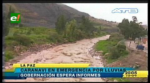 Una torrencial lluvia afecta a 35 viviendas y puentes en Caranavi