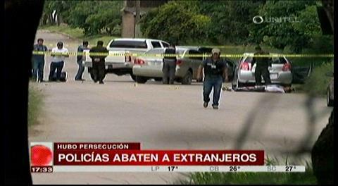 Video. Comandante de la Policía informa que 4 extranjeros son abatidos tras un tiroteo
