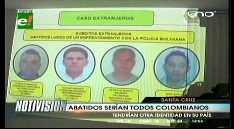 Extranjeros abatidos por la Policía serían todos colombianos