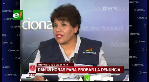 Tras difusión de imágenes: Presidenta de la Aduana niega vínculos con Zapata