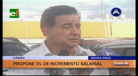 Cadex propone 3% de incremento salarial