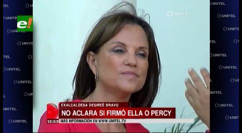 Desirée Bravo no habla sobre la compra del dron