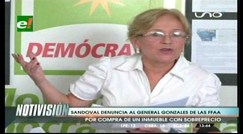 Diputada Sandóval denuncia al general Juan Gonzalo Durán por daño económico al Estado