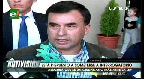 Quintana está dispuesto a un interrogatorio por el caso CAMC