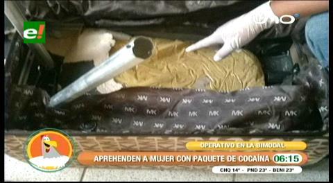 En la Bimodal: Incautan más de 1.000 gramos de cocaína